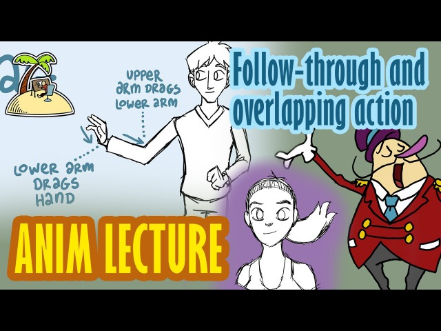Follow through and overlapping action - animation principle