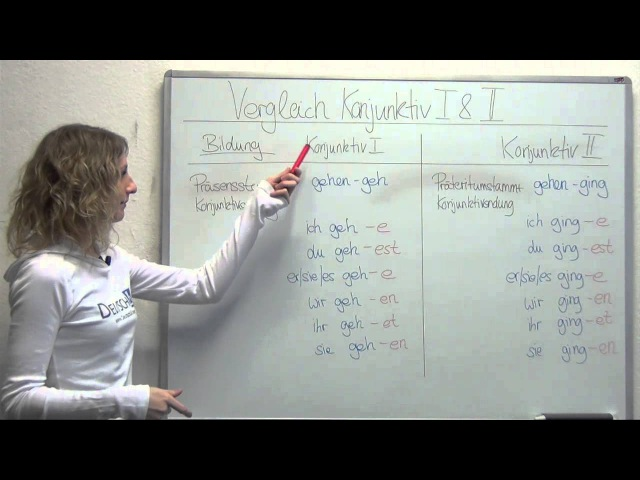 Vergleich Konjunktiv 1 und 2 - DeutschLV