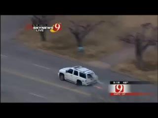 Oklahoma police chase GMC Yukon    Suspect crashes car