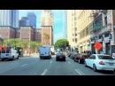 Driving Downtown - LA's City Center - Los Angeles California USA
