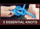 5 OUTDOORSMAN KNOTS - Truckers Hitch, Bowline, Tautline, Prusik, Chain Sinnet