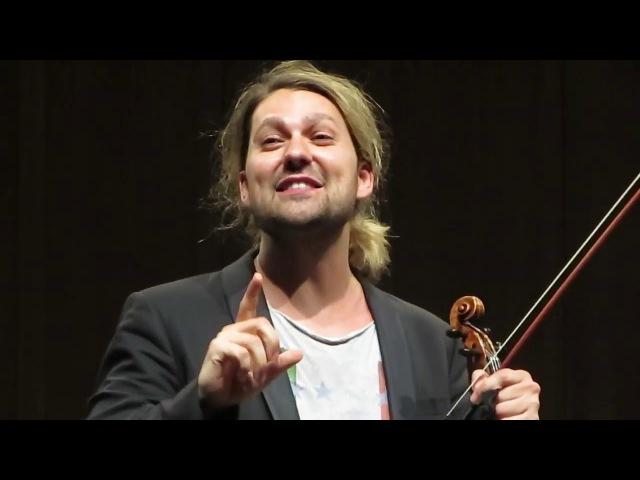 David Garrett bedankt sich beim Orchester und seinem Lehrer Zakhar Bron - Interlaken 18.04.2016