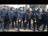 Полиция не дала неонацисту-провокатору помешать одесситам возложить цветы на А ...
