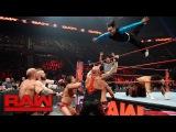 Hardy Boyz, Cesaro &amp Sheamus vs. Gallows and Anderson &amp Shining Stars Raw, April 10, 2017