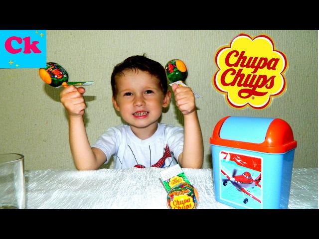 Распаковка Чупа Чупсов с игрушками Ужастики прилипучки. Chupa Chups open Horror prilipuchki.
