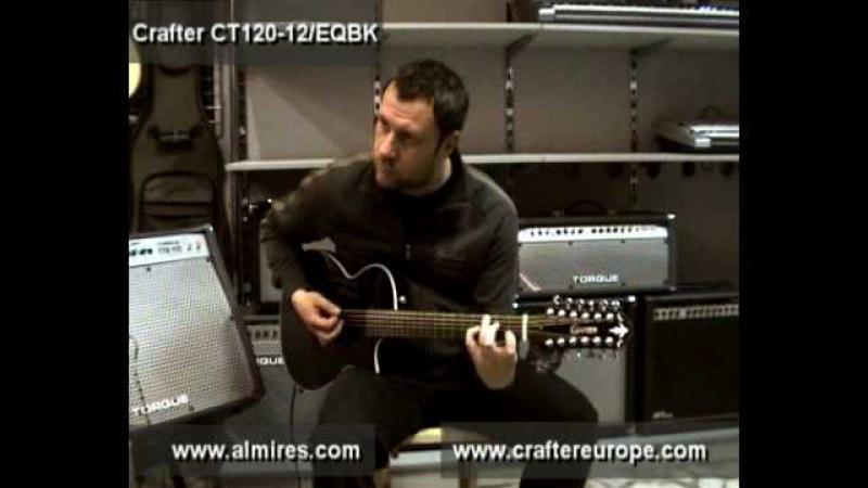 Crafter CT-120-12/EQBK acoustic guitar sound demonstration. Akusztikus gitárok