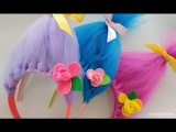 Trolls Movie DIY Craft How to Make Toll Hair Headbands