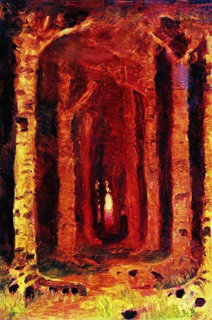 Архип Куинджи. Закат в лесу