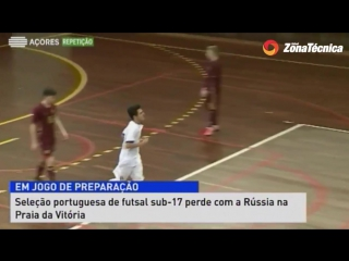 Юноши. Товарищеские матчи. Португалия - Россия. Игра №1. 1:2. Обзор.
