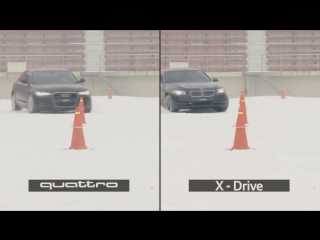 Audi quattro vs BMW xDrive vs Mercedes 4matic (snow test)