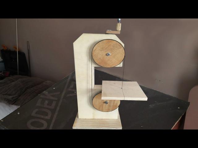 Making a Homemade Bandsaw (drill powered) - El Yapımı Şerit Testere