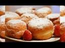 Творожные пончики с клубникой