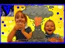 ★ Лаборатория красок эксперимент Извержение Вулкана. Видео для детей. Опыты в домашних условиях.