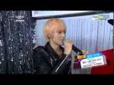 130927 G-Dragon &amp Mad Clown - Backstage Cute with MC Teen Top (Niel &amp L.Joe) @Music Bank