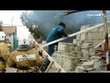 В Керчи пожар на Партизанском: горит пристройка у двухэтажного жилого дома