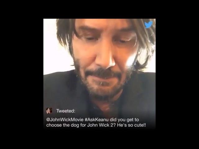 Киану Ривз отвечает на вопросы о Джоне Уике 2