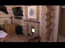 Красивая печь для бани с каминным порталом.