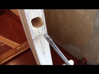 Установка замка в межкомнатную дверь , от А до Я