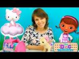 Игры для девочек: Доктор Плюшева Хеллоу Китти и  Игрушки Милы. Видео для детей #НосикиКурносики