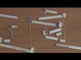 Гениальная машина Голдберга из магнитов и шариков (6 sec)