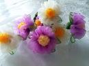 KURDELE OYALARI TESBİH BAŞLIĞI menekşe çiçeği