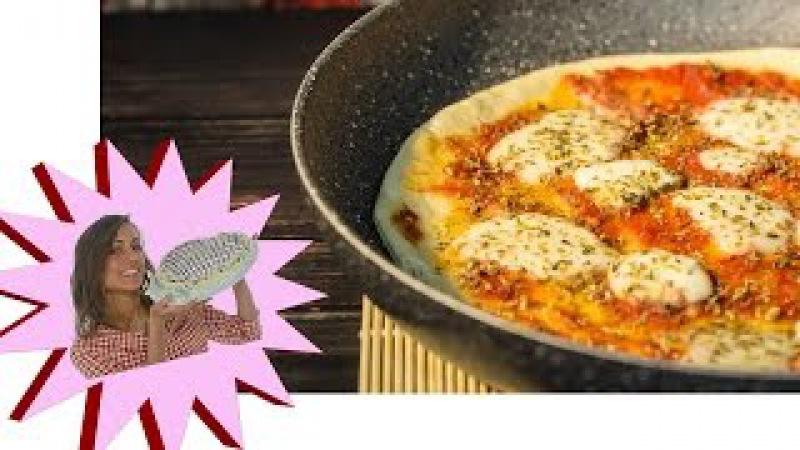 Pizza Fatta in Casa - Ricetta Velocissima in Padella 15 Minuti