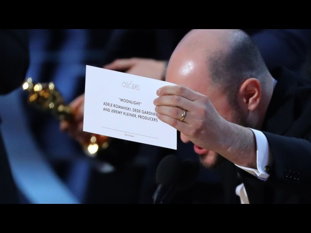 Oscar 2017 FAIL - Best Picture - Moonlight/LaLaLand Blunder Oscars 2017 - Production FAIL
