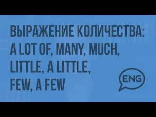 Выражение количества: a lot of, many, much, little, a little, few, a few