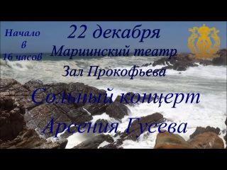 Анонс концерта Арсения Гусева 22 декабря