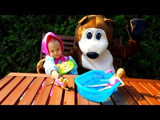 ♥ Маша и Медведь - Барби и Щенки Премьера новой серии (58 серия) ! Бассейн для Щенков Барби ♥