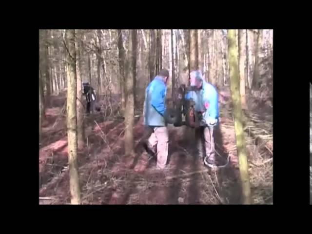 Машина для обрезки веток и сучьев. Лесной трактор сучкорез.