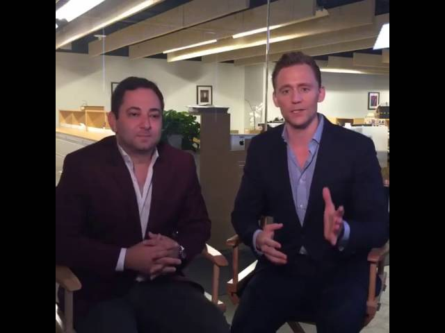 Tom Hiddleston on The Hollywood Reporter's Facebook Live Chat