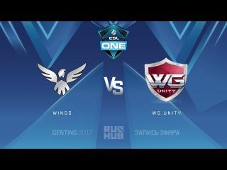 Wings vs WG.Unity - ESL One Genting, Группа B [Adekvat, Mila]