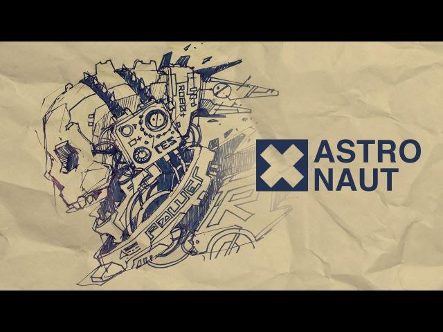 Cybergoth Astronaut. Freehand Drawing Speedart