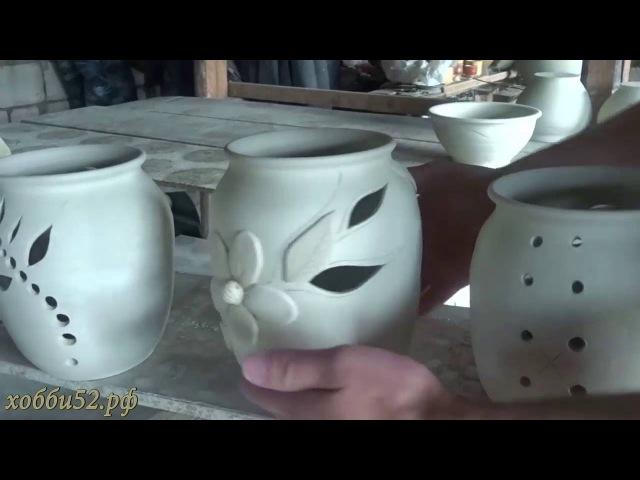 Гончарное дело, гончарная мастерская, печь для обжига керамики, изделия из белой глины.