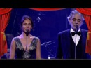 Aida Garifullina and Andrea Bocelli. Аида Гарифуллина и Андреа Бочелли.