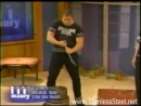 Stanless Steel the Strongman on the Maury Povich Show, 1 finger dead lift