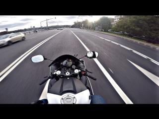 Интенсивный прохват на мотоцикле под музыку ¦¦ Yamaha r1 triumph street triple