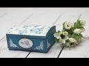 Decoupage krok po kroku szkatułka w błękitnie różyczki