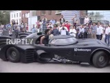 Russia Batmobile revs its way to Moscow for rare showcase