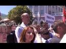 Сербия Митинг оппозиции против сделки по демаркации границы с Черногорией