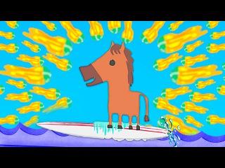 НЕПРОХОДИМЫЙ ВЗРЫВНОЙ УРОВЕНЬ ЧИТЕРНЫЕ ВОЛНЫ ( ULTIMATE CHICKEN HORSE )