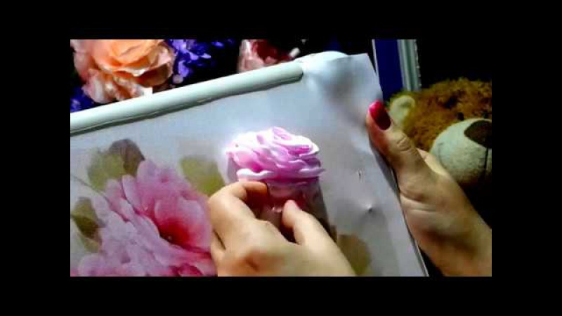 МК Роза из лентEmbroidery ribbons