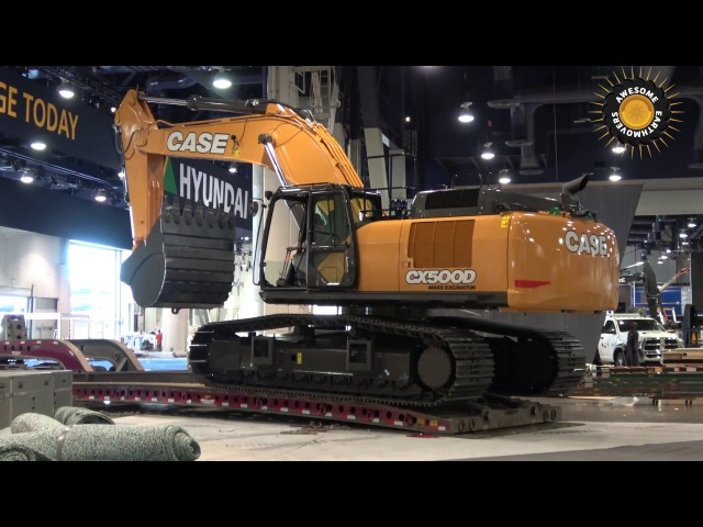 Case CX500D excavator moving out of Conexpo 2017
