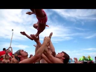 Экстремальные прыжки красивых девушек! Спортсменки и спортсмены! Сальто! Гимнастки!