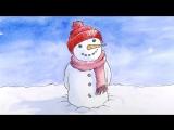 Как нарисовать снеговика на Рождество