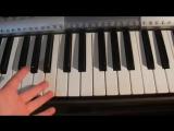 Как играть прикольную и пугающию песню на пианино!легко и быстро