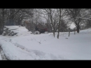 Трактор т-25 по снігу