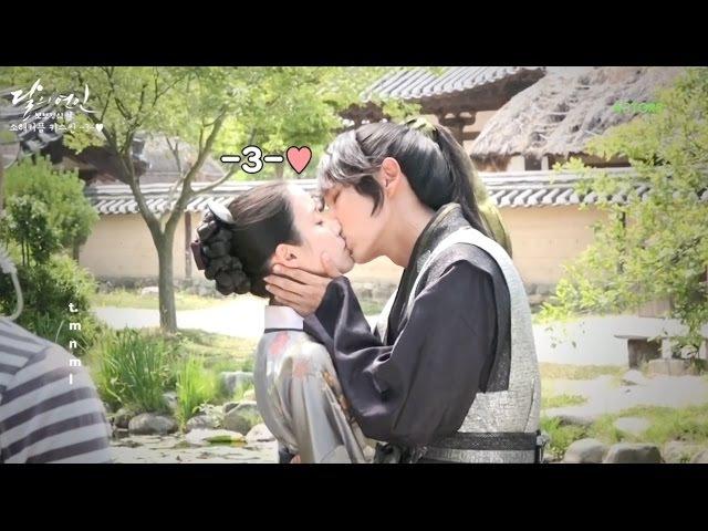 [ENGSUB] Kiss scene - Behind the scene Moon Lovers Ep 14 (달의연인 메이킹-은애한다 키스신 비하인드 혼자 봐야하45716