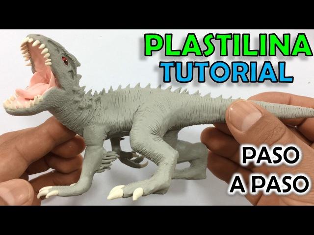 ✅ COMO HACER UN DINOSAURIO INDOMINUS REX DE PLASTILINA PASO A PASO ✅ JURASSIC WORLD - PLASTIL